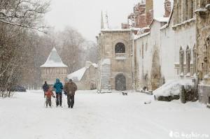 лыжники в федоровском городке