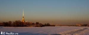 панорама Невы зимой