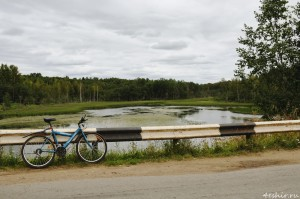 Велосипед у дороги