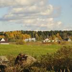 Осенняя деревушка