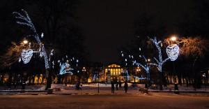 Площадь Искусств в Новый год