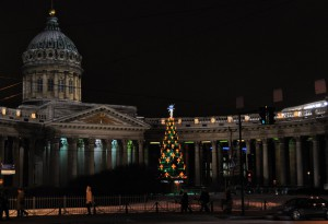 Казанский собор и елка