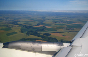 Вид из самолета. Франция