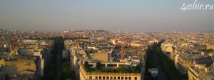 Вид с Триумфальной арки на Монмартр