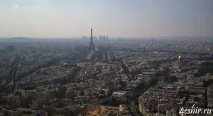 Вид с башни Монпарнас (tour Montparnasse)