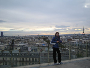 На крыше торгового центра Au printemps