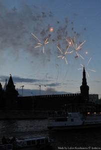 Салют в День России