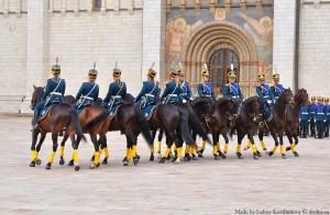 Выступление конного полка