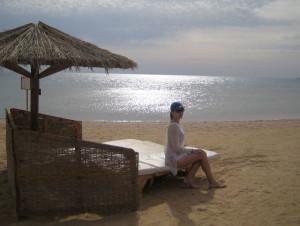 Утром на пляже