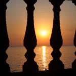 Закат в Гагре