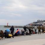 Рыбаки в Ялте