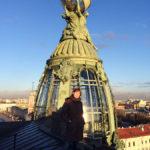 На крыше Дома Зингера