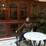 Во внутреннем дворике Дома Зингера