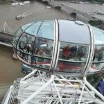 Кабинки Лондонского глаза и Темза
