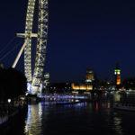 Лондонский глаз и Вестминстер с подсветкой