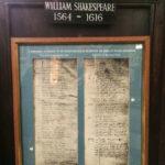 Запись о рождении и смерти Шекспира