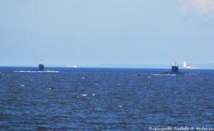 Подводные лодки подходят к Кронштадту