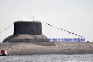 """Личный состав подлодки """"Дмитрий Донской"""" в парадной форме"""