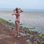 Пляж у мызы Сака