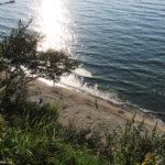Вид на пляж в Донском сверху
