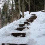 Ступени в снегу