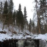 Русло реки Прикша, водопад
