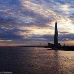Лахта-центр на берегу Финского залива