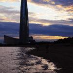 Вечер у залива рядом с Лахта-центром
