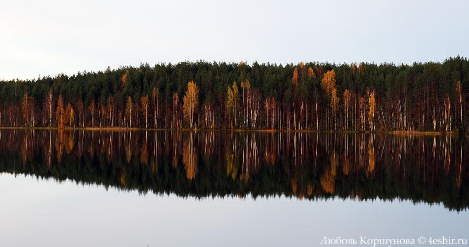 Озеро как зеркало