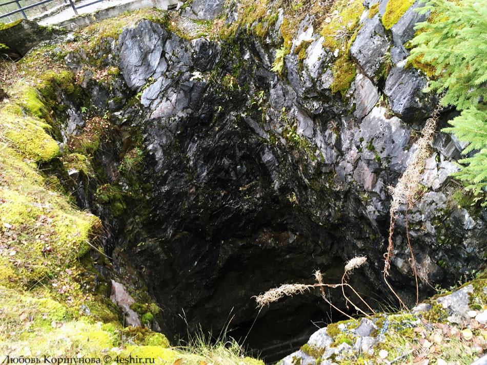 Мраморная штольня, вид с поверхности